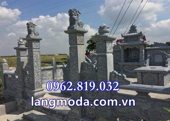 Cổng đá khu lăng mộ - Cổng vào lăng mộ - Lăng mộ đá tại Thái Bình