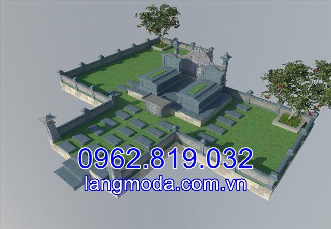 Bản thiết kế lăng mộ đá gia đình tại Bắc Ninh