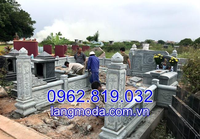 Cách bố trí các thành phần trong khu lăng mộ đá tại Bắc Ninh