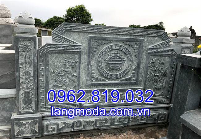Mẫu cuốn thư đá lăng mộ tại Bắc Ninh