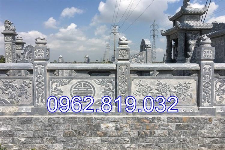 Lan can đá bao quanh khu lăng mộ đá Thái Bình, Lan can đá