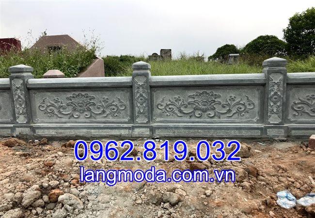 Lan can đá hàng rào đá lăng mộ tại Bắc Ninh