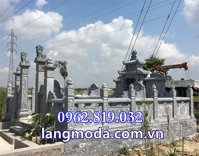 Lăng mộ đá xanh khối cao cấp tại Thái Bình, Khu lăng mộ đá đẹp tại Thái Bình
