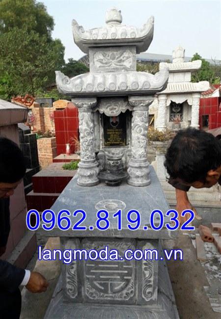 Mẫu mộ đơn đẹp điêu khắc tại Ninh Bình;