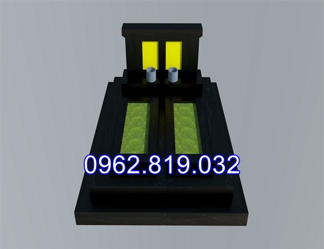 Mẫu thiết kế mộ đôi cao cấp hiện đại đơn giản MDCC07
