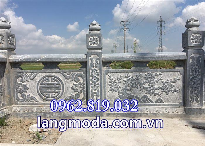 Tường rào đá lăng mộ Tại Thái Bình, Hàng rào lăng mộ