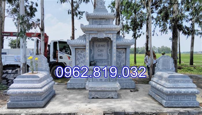 Xây khu lăng mộ gia đình đẹp bằng đá 02