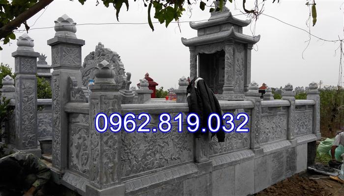 Xây khu lăng mộ gia đình đẹp bằng đá khối cap cấp 04, khu mộ gia đình, xây mộ gia đình