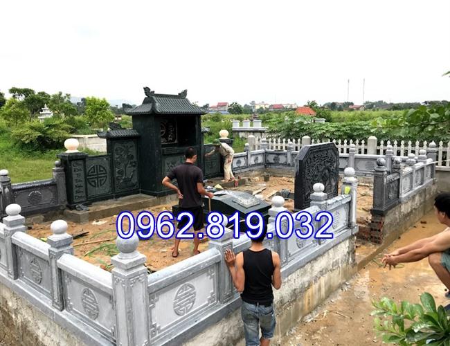Xây khu lăng mộ gia đình đẹp bằng đá khối cap cấp 06, Khu mộ gia đình đẹp, Xây mộ gia đình