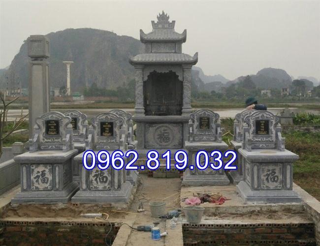 Xây khu lăng mộ gia đình đẹp bằng đá khối cap cấp 10