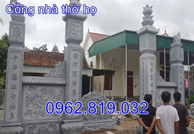 Kích thước xây cổng nhà thờ họ từ đường đẹp