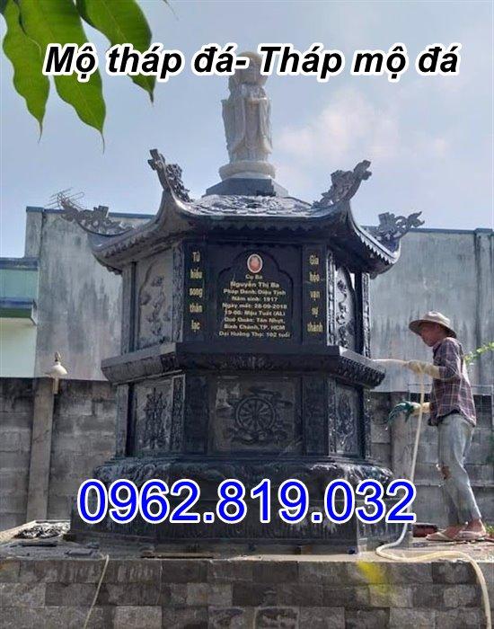 bán mẫu mộ tháp đá tháp mộ đá để hài cốt đẹp tại Vĩnh Long
