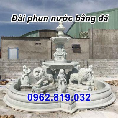 Đài phun nước bằng đá hình tượng 28, Tháp phun nước bằng đá