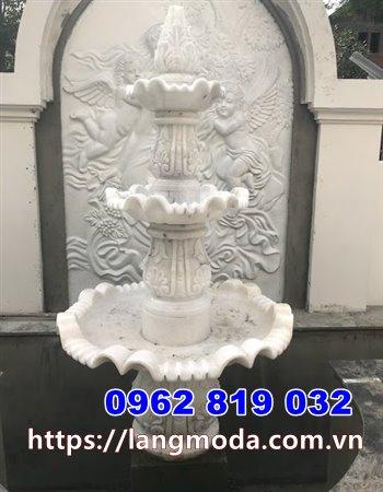 Mẫu đài phun nước biệt thự bằng đá trắng - Đài phun nước bằng đá