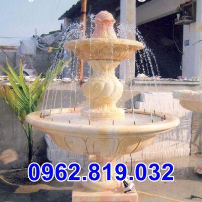 Mẫu đài phun nước bằng đá cho sân vườn biệt thự