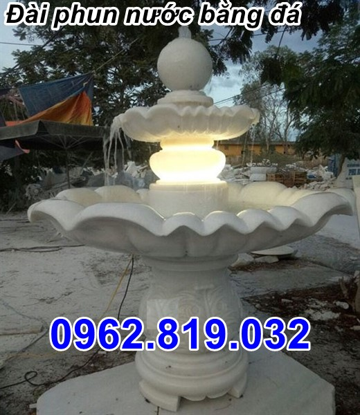 Mẫu đài phun nước bằng đá sân vườn biệt thự 25