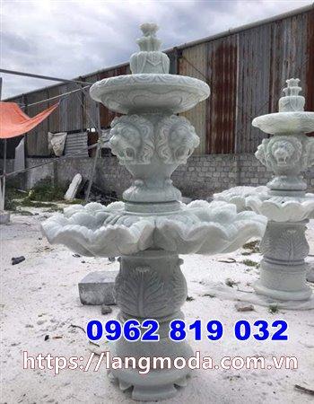 Mẫu đài phun nước biệt thự đẹp - Đài phun nước biệt thự bằng đá