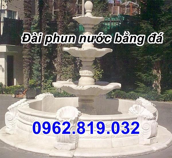 Mẫu tháp phun nước bằng đá  - Đài phun nước bằng đá đẹp