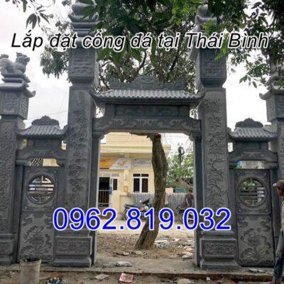 Cổng đá đình làng tại Vũ Thư Thái Bình