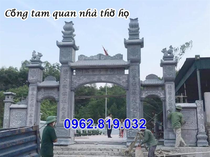 Cổng tam quan nhà thờ họ 44, cổng đá