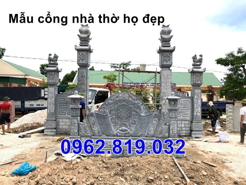 Mặt sau cổng nhà thờ họ 42; Cổng đá