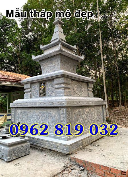 Mẫu tháp mộ đẹp để hài cốt bằng đá Đồng Tháp