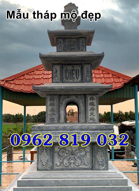 Mẫu tháp mộ đẹp để hài cốt bằng đá Bạc Liêu