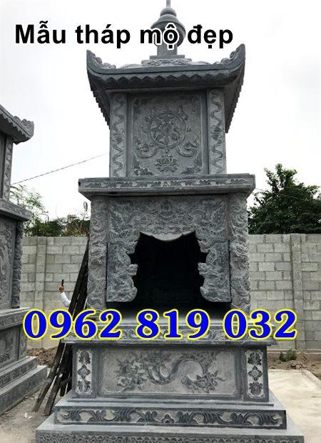 Mẫu tháp mộ đẹp để hài cốt bằng đá Kiên Giang