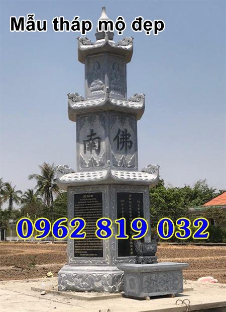 Mẫu tháp mộ đẹp để hài cốt bằng đá Hậu Giang