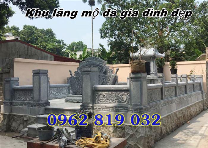 Khu mộ gia đình đẹp giá rẻ bằng đá