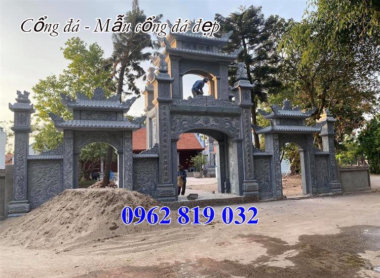 Cổng đá 30 mẫu cổng làng cổng đình đẹp giá rẻ nhất 2020
