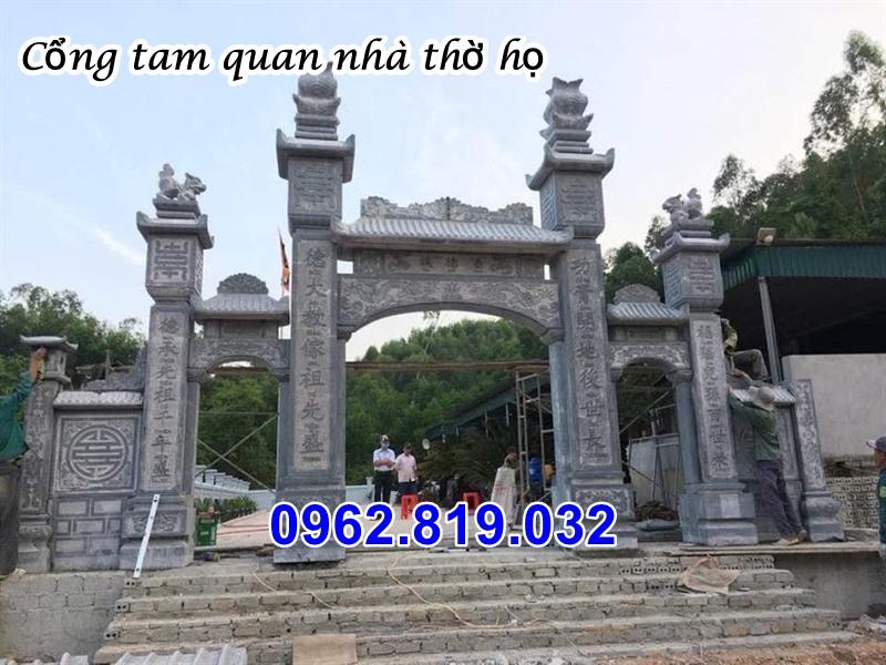 Mẫu cổng nhà thờ họ đẹp bằng đá - Cổng nhà thờ họ