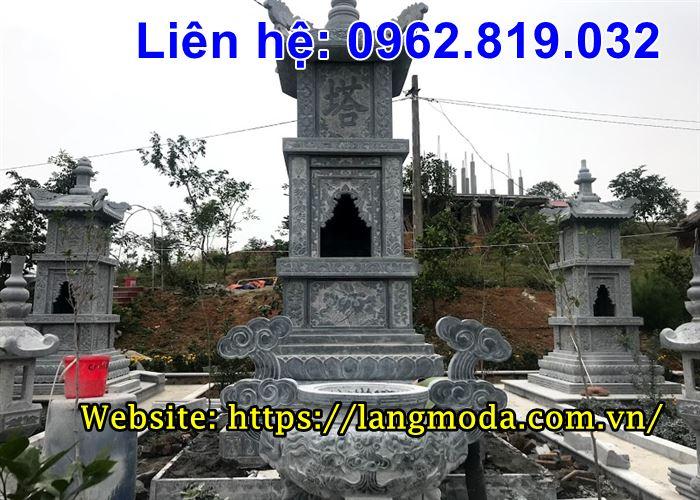 Lăng mộ tháp đá để hài cốt đẹp xuất sắc