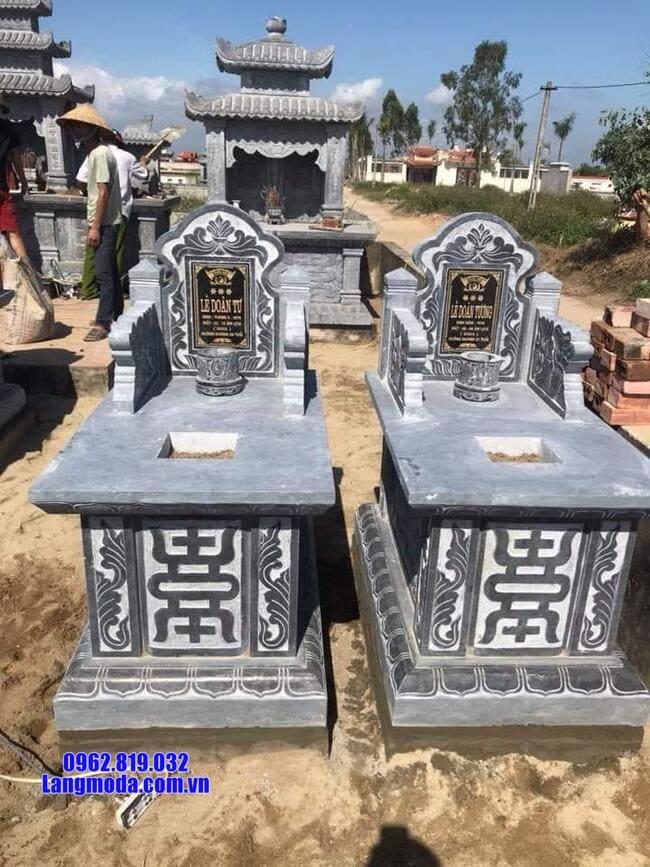 mẫu mộ tam sơn bằng đá xanh đẹp
