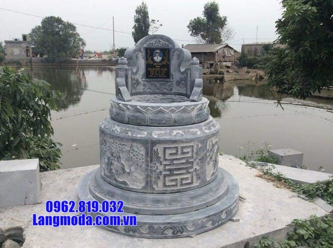 mẫu mộ tròn bằng đá đẹp