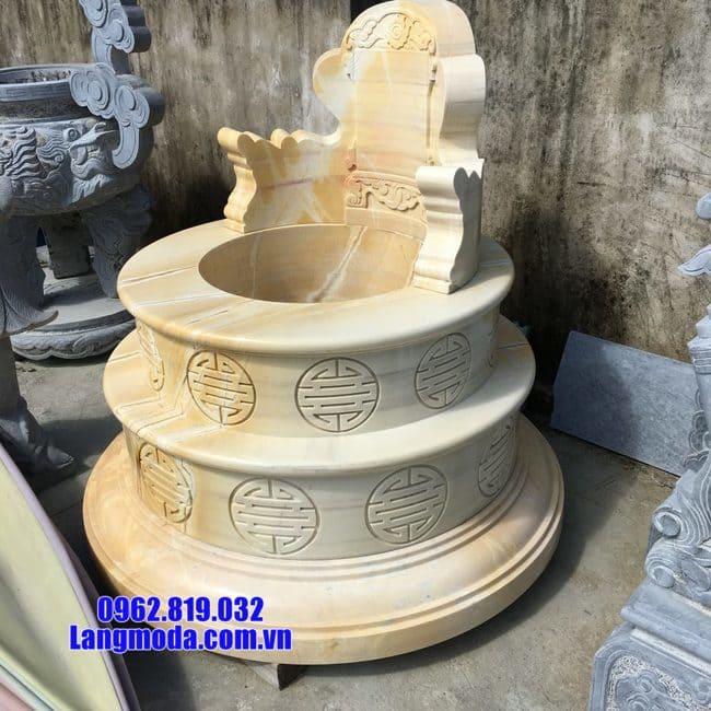 mẫu mộ tròn đẹp bằng đá vàng