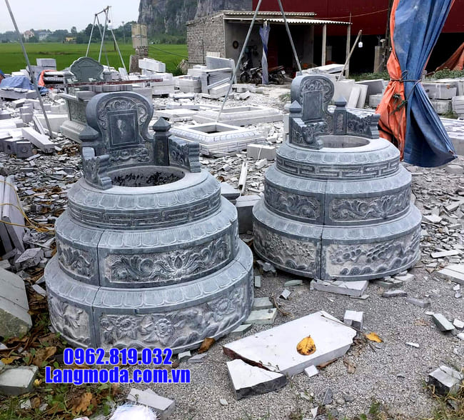 mẫu mộ tròn đẹp bằng đá xanh