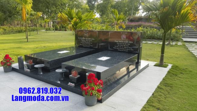 mộ đá hoa cương nguyên khối đẹp