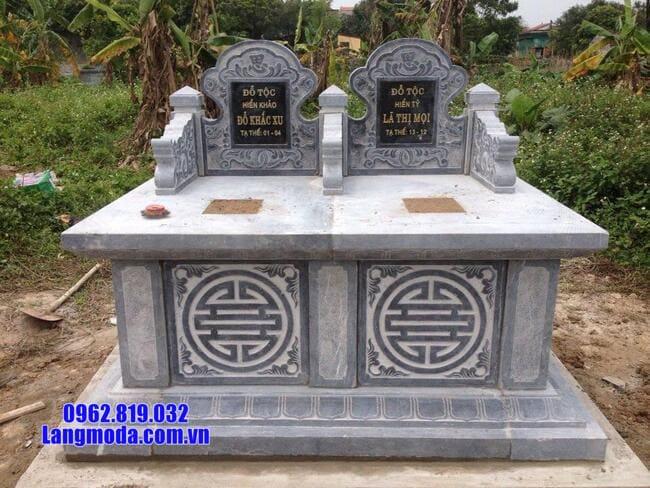 mộ đôi tam sơn đá đẹp