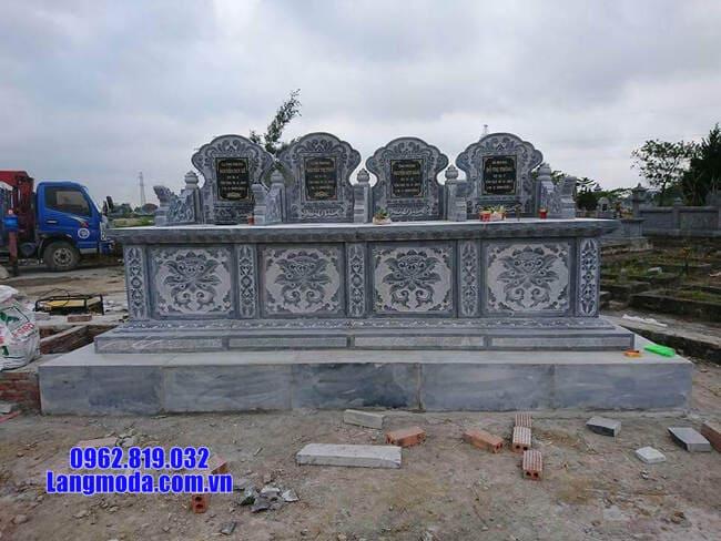 mộ tam sơn bằng đá xanh đẹp