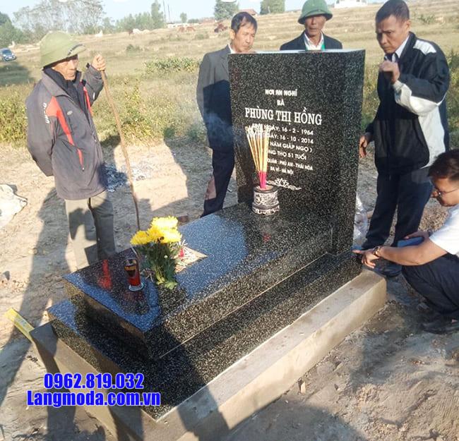 Kích thước mộ đá granite chuẩn phong thủy