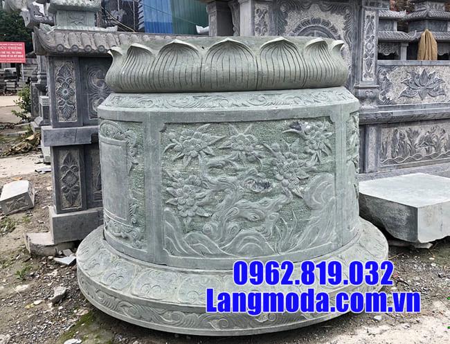 Kích thước mộ tròn bằng đá chuẩn theo phong thủy