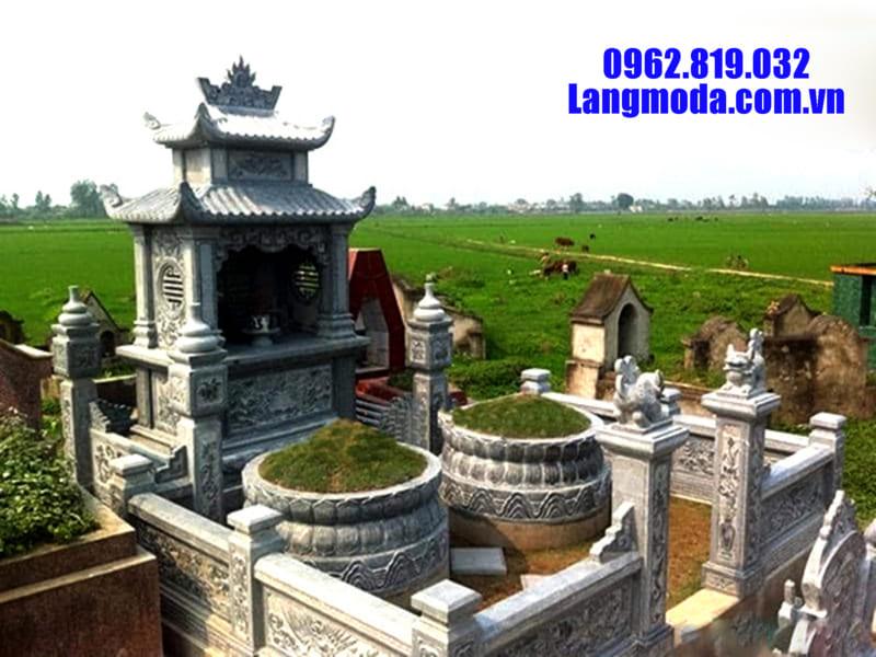 Mẫu lăng mộ đá đang được ưa chuộng tại Ninh Bình