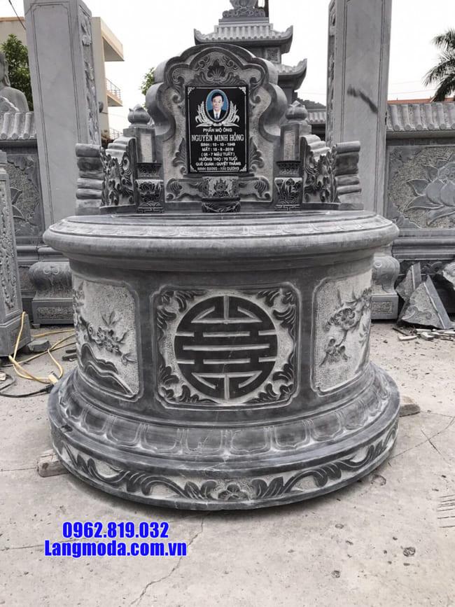 Những mẫu mộ đá hình tròn đẹp nhất tại Ninh Vân - Ninh Bình