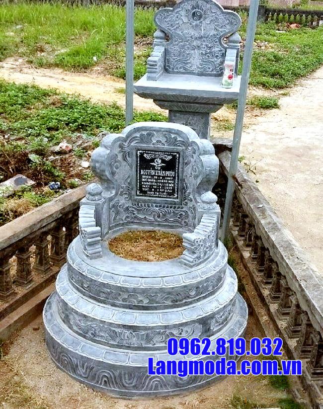 Những mẫu mộ tròn bằng đá xanh đẹp nhất hiện nay