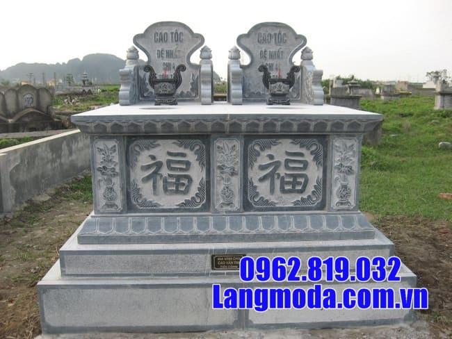 Ưu điểm của mộ được làm từ đá xanh nguyên khối