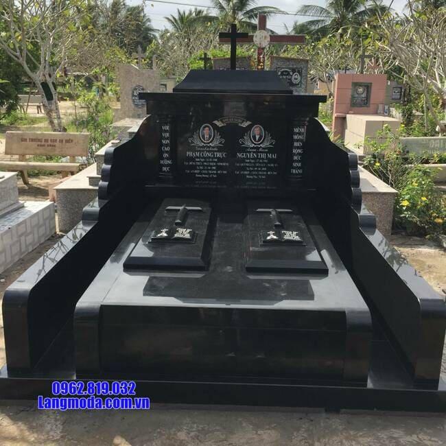 mẫu mộ cho người theo đạo bằng đá đẹp