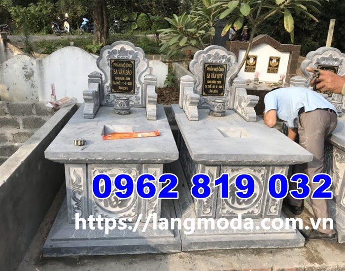 Mẫu mộ gia đình kiểu không mái truyền thống