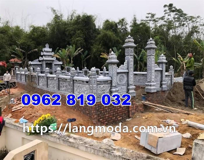Mẫu khu lăng mộ đá mồ mả đẹp 2021