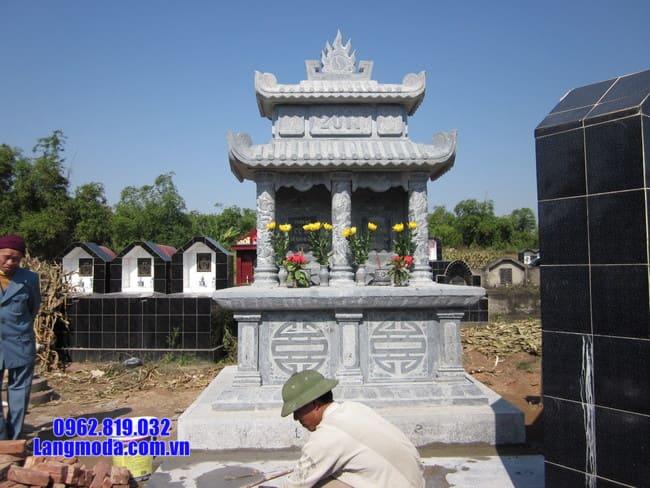 Top những mẫu mộ đá đôi đẹp nhất hiện nay tại Ninh Bình